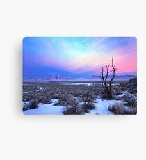 Nevada Winter Pre Sunrise  Canvas Print