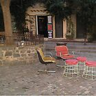 chairs in St. Tropez, France by Robert Elfferich