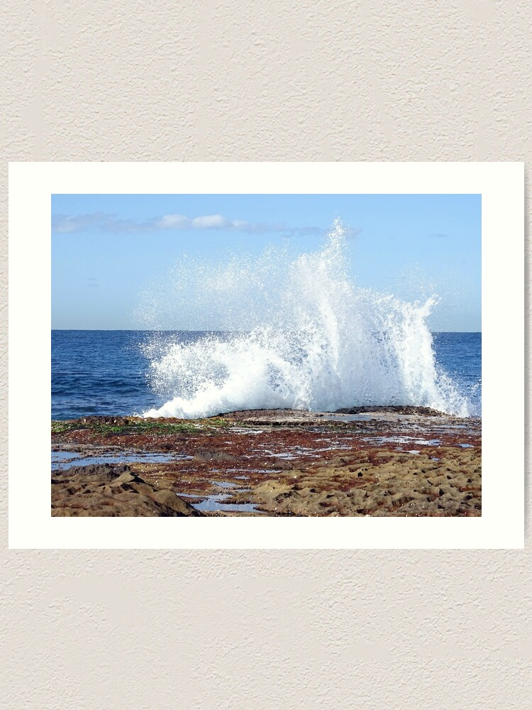Alternate view of Wave at Cape Banks 2021/08/02 Art Print