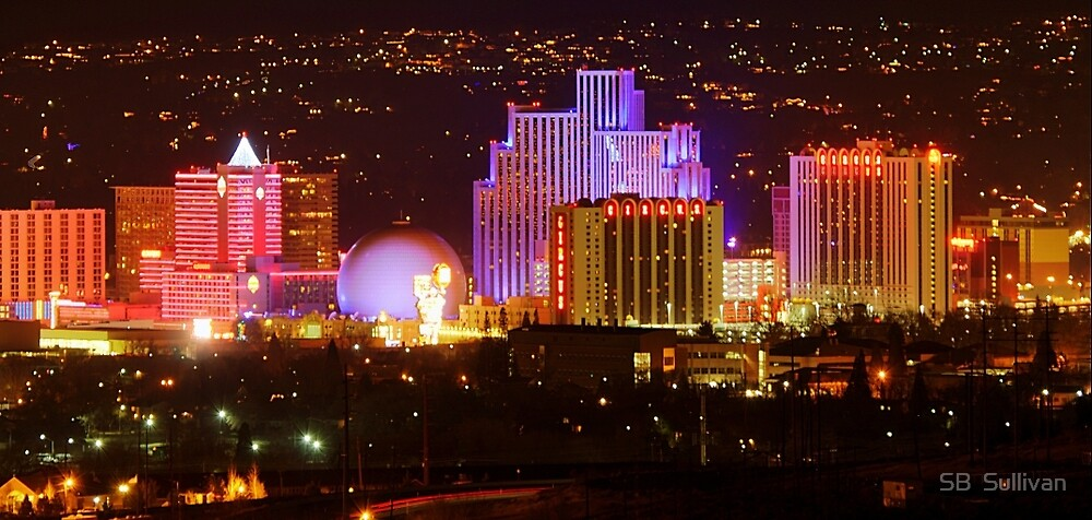 Sunday Night Downtown Reno by SB  Sullivan