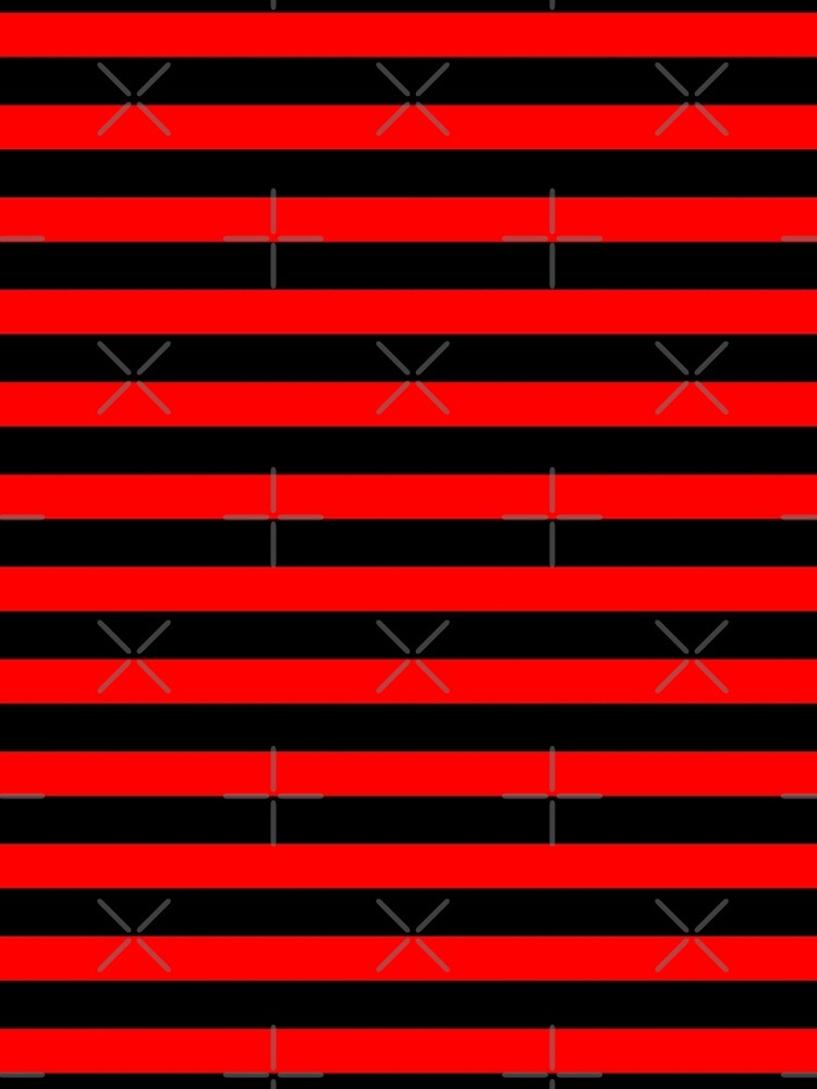 Thin Horizontal Red Stripes on Black Easy Simple Costume by that5280lady
