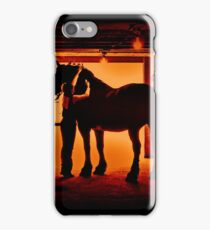 Grooming The Mighty Percheron iPhone Case/Skin