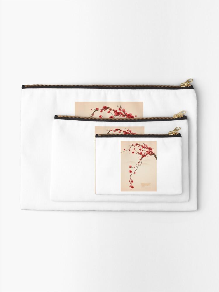 Alternative Ansicht von Wunderlicher roter Kirschblüten-Baum Täschchen