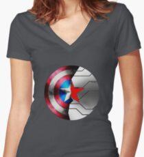 Buck Rogers Tailliertes T-Shirt mit V-Ausschnitt