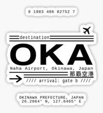 OKA Naha Airport, Okinawa, Japan Sticker