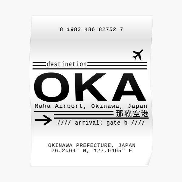 OKA Naha Airport, Okinawa, Japan Poster
