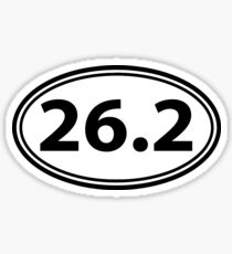 26.2 MARATHON STICKERS OVAL DECAL SHIRT Sticker