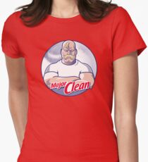 Major Clean Womens Fitted T-Shirt