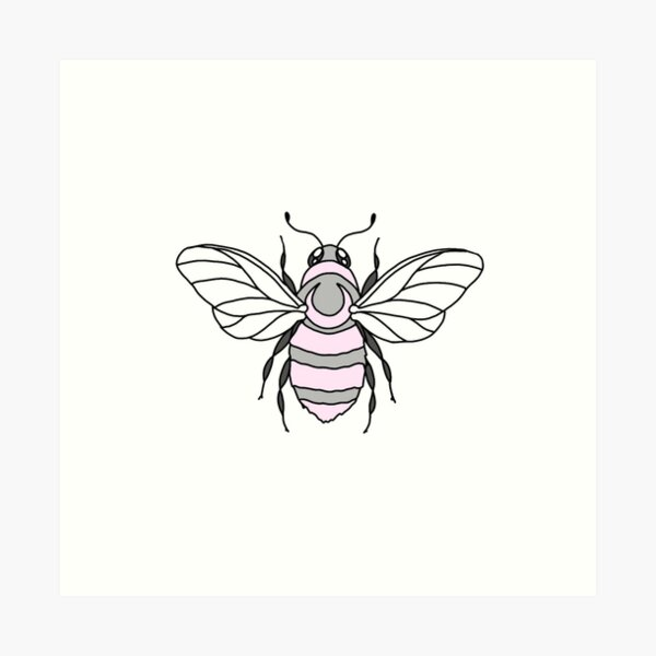 Pastel Honey Bee Art Print