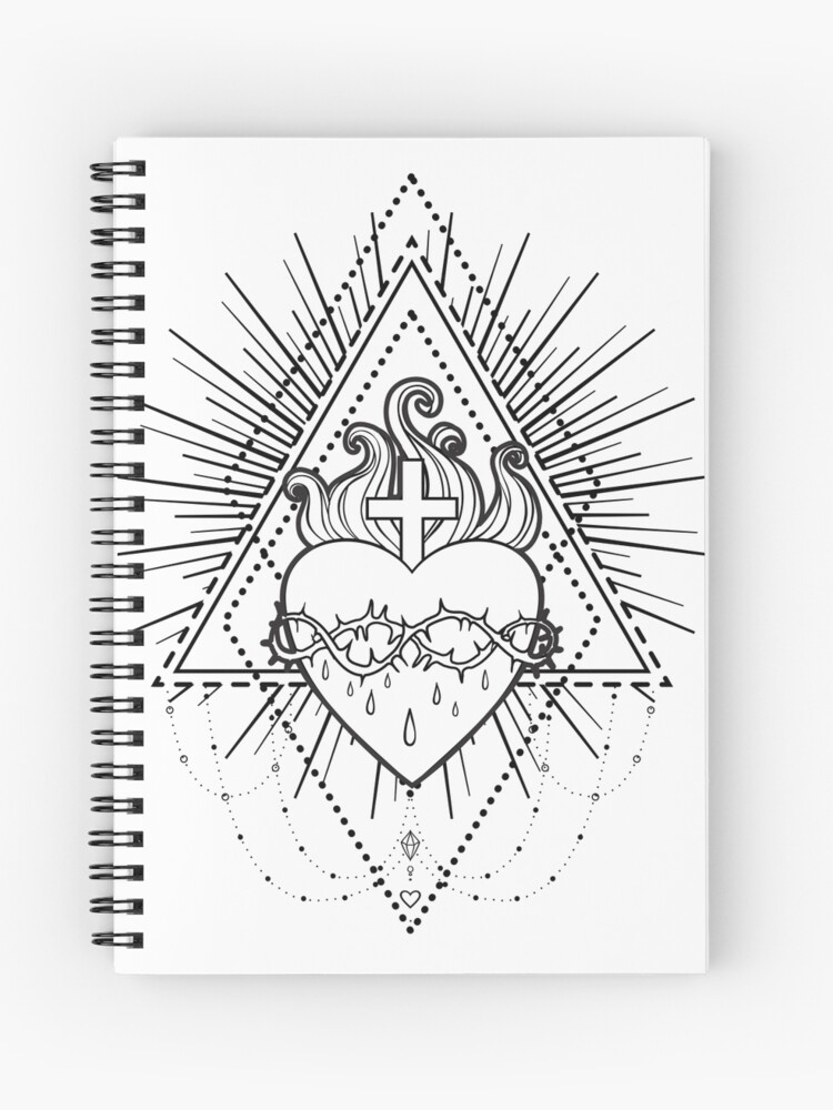 Sacred Heart Of Jesus Spiral Notebook