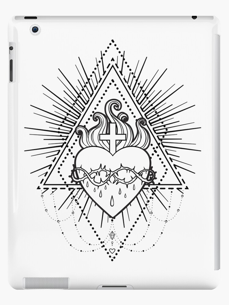 Sacred Heart Of Jesus Ipad Caseskin By Varvara Gorbash