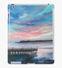 Sunset At Sunset Pier Tiki Bar iPad Case/Skin