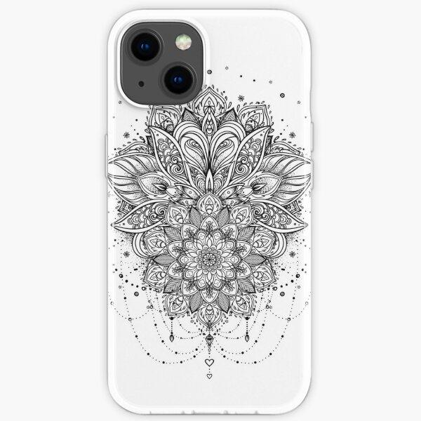 Ornate Lotus Flower iPhone Soft Case