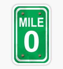 Mile Zero Sticker