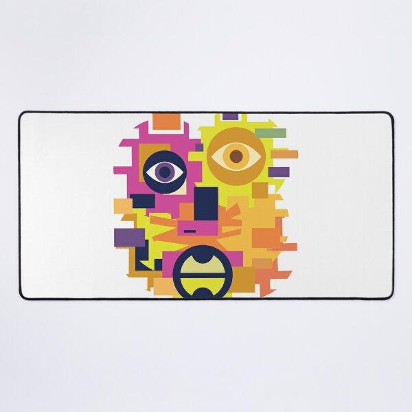 Face Cubism 8 Desk Mat