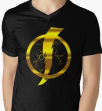 Static Shock Logo Mens V-Neck T-Shirt