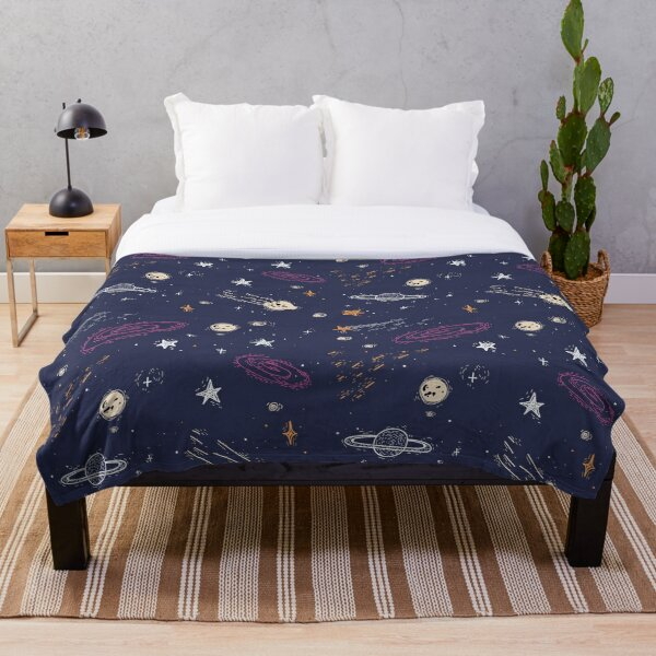 Space Planet Throw Blanket