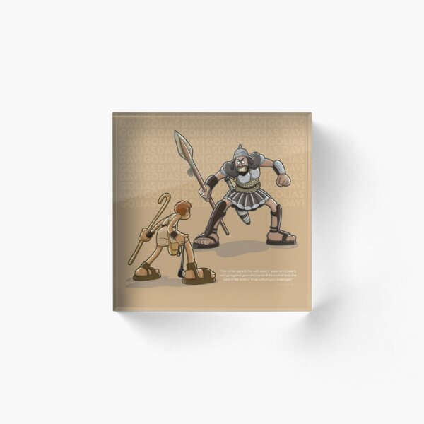 David and Goliath Acrylic Block