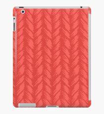 Decorative red knit seamless pattern. iPad Case/Skin