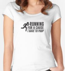 Running For a Cause Women's Fitted Scoop T-Shirt