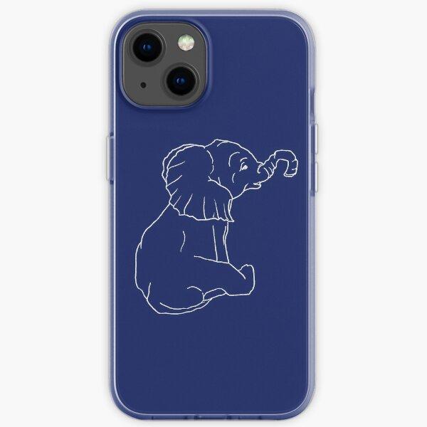 Baby Elephant_White iPhone Soft Case
