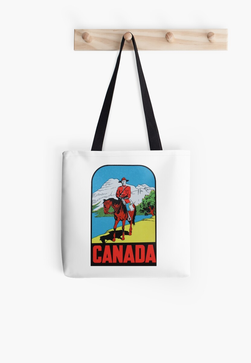 Canada Canadian Mountie Vintage Travel Decal by hilda74
