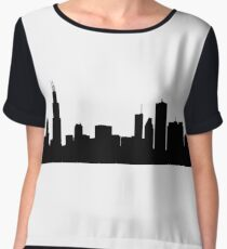 Chicago skyline Women's Chiffon Top