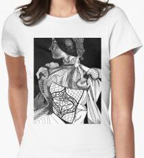 Victorian Lady Pen and Ink Sketch T-Shirt
