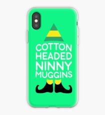 Baumwolle vorangegangenes Ninny Muggins-T-Shirt iPhone-Hülle & Cover