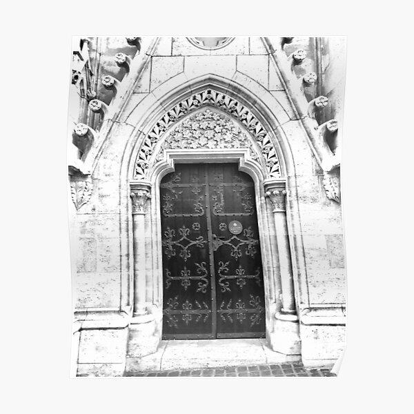 Saint Matthias Church Door, Budapest, Hungary Poster