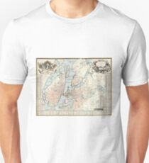Vintage Map of Stockholm (1733) Unisex T-Shirt