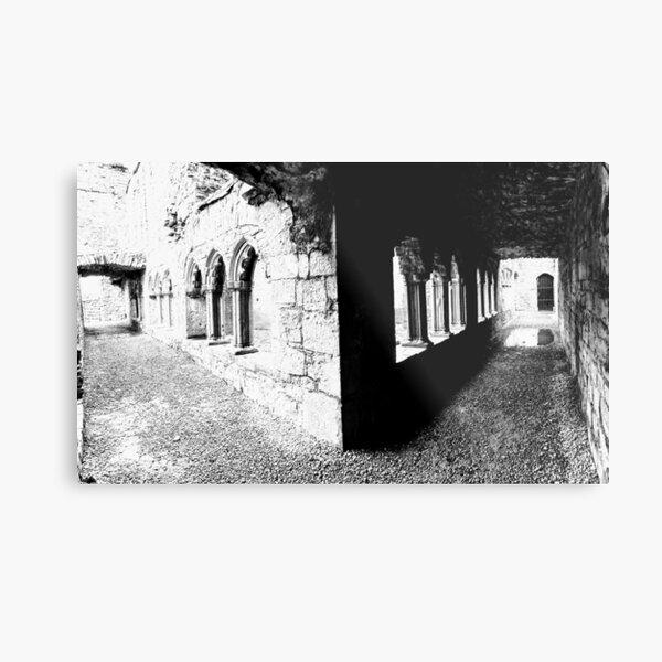 Cloister at Bective Abbey, Ireland Metal Print