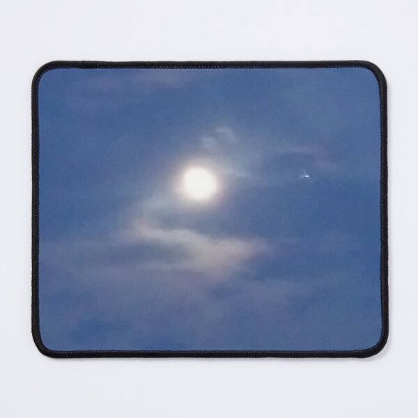 Moonlight Blue Sky Mouse Pad