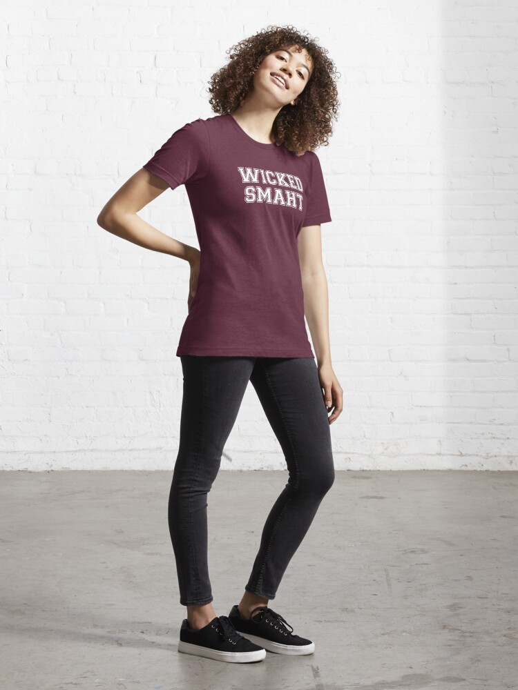 Alternate view of Wicked Smart (Smaht) College Boston Essential T-Shirt