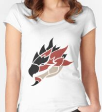 Monster Hunter - Rathalos Head Women's Fitted Scoop T-Shirt