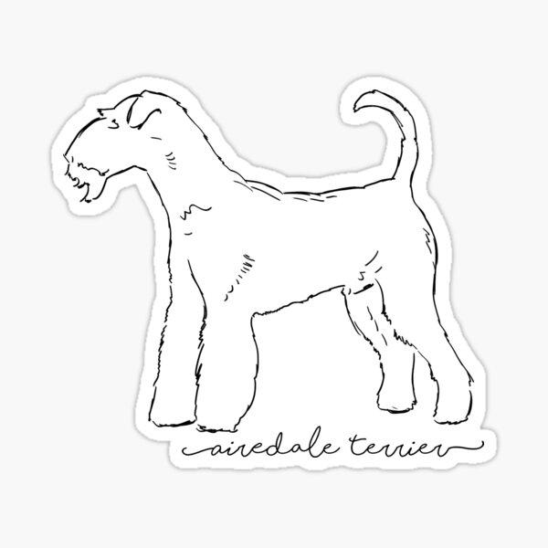 Airedale Terrier sketch Sticker