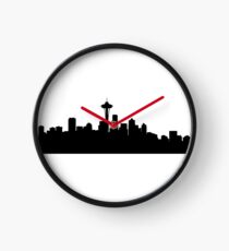 Seattle skyline Clock