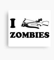I Crossbow Zombies Canvas Print