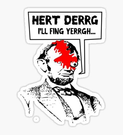 Popular Television Show Humor- Abraham Lincoln vs. Negan Sticker