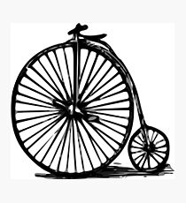 Velocipede, Penny-farthing, bicycle Photographic Print