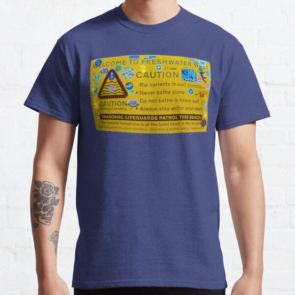 Freshwater West Warning Sign Classic T-Shirt