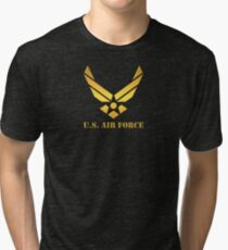 Golden U.S Air Force Tri-blend T-Shirt