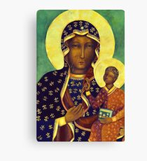 Polish Black Madonna Our Lady of Czestochowa Madonna and Child Picture Virgin Mary Painting Canvas Print