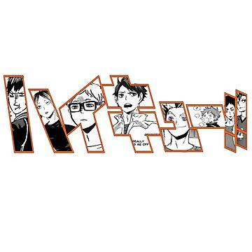 Haikyuu!! Title - Kageyama Tobio, Kenma Kozume, Tsukishima Kei, Oikawa Tooru, Bokuto Koutarou, Hinata Shouyo, Akaashi Keiji, Nishinoya Yuu by KajiKuma