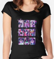 Forms of Twilight Sparkle Women's Fitted Scoop T-Shirt