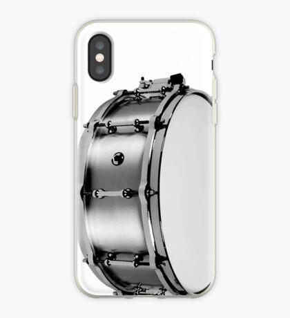 brushed aluminum snare iPhone Case