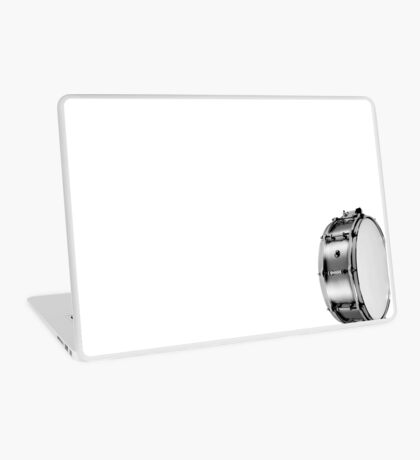 brushed aluminum snare Laptop Skin