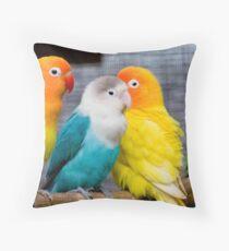 Love Parrots Birds  Throw Pillow