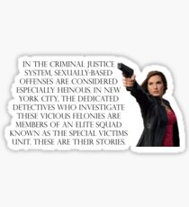 SVU Benson Sticker