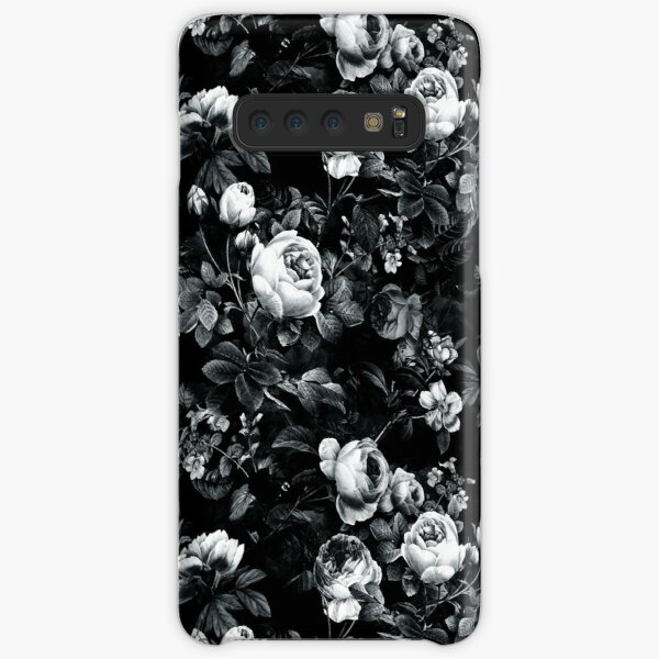 Roses Black and White Samsung Galaxy Snap Case